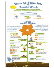 Social Worker Steps To Self-Care 11x17 Poster front