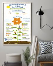 Social Worker Steps To Self-Care 11x17 Poster lifestyle-poster-1