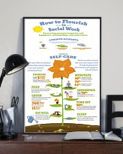 Social Worker Steps To Self-Care 11x17 Poster lifestyle-poster-2