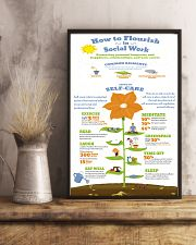 Social Worker Steps To Self-Care 11x17 Poster lifestyle-poster-3