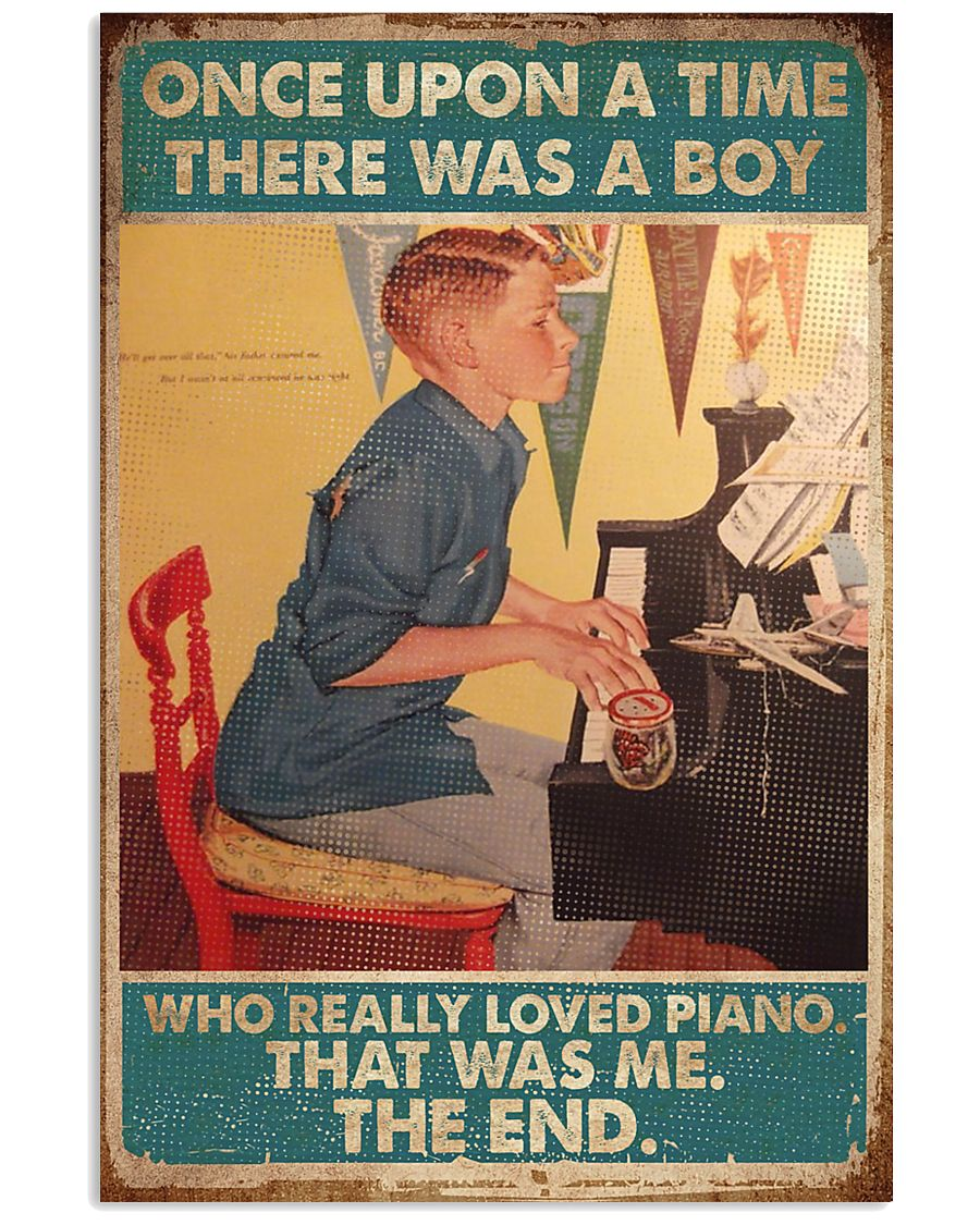 Pianist A Boy Who Really Loved Piano 11x17 Poster