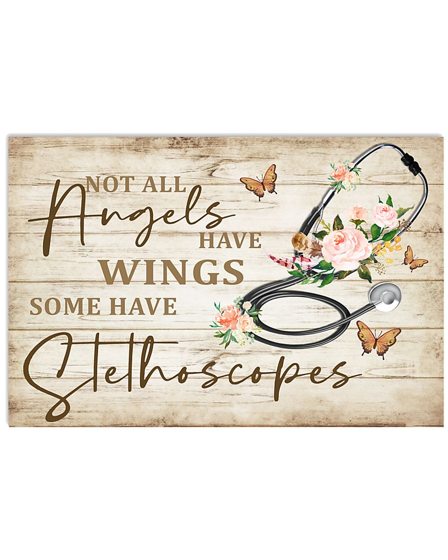 Medical Assistant Not All Angels Have Wings 17x11 Poster