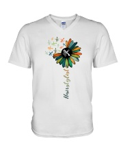 Hairstylist Colorful Tools Sunflower  V-Neck T-Shirt thumbnail
