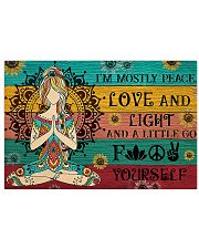 Yoga I Am Mostly Peace 17x11 Poster front