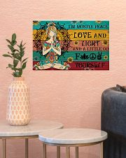 Yoga I Am Mostly Peace 17x11 Poster poster-landscape-17x11-lifestyle-21