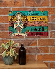 Yoga I Am Mostly Peace 17x11 Poster poster-landscape-17x11-lifestyle-23