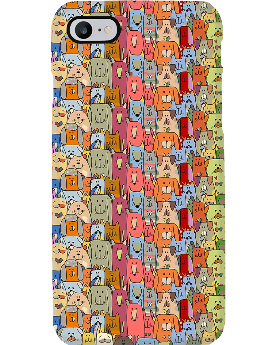 Veterinarian Colorful Cute Dogs Phone Case