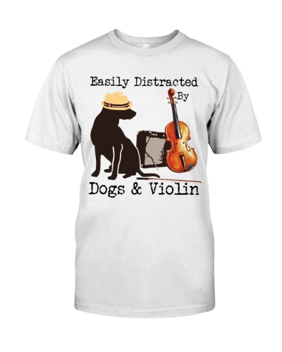 Violinist Easily Distracted By Dogs And Violin