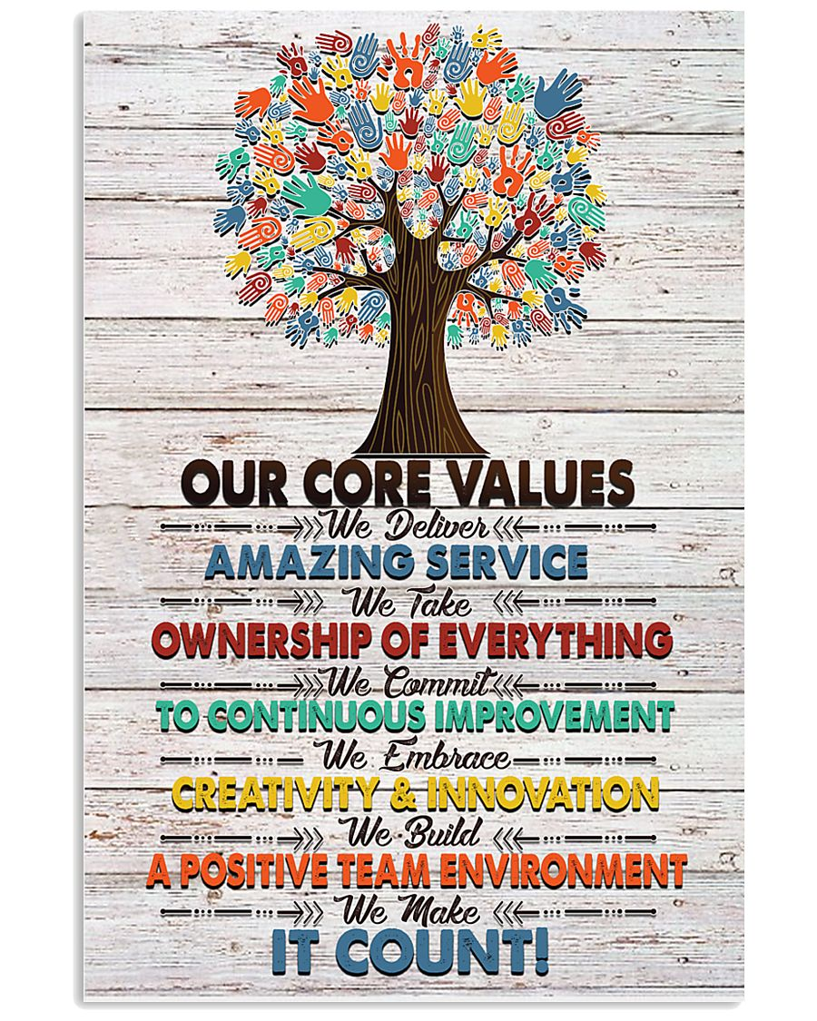 Massage Therapist Our Core Values Poster 11x17 Poster