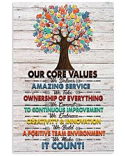 Massage Therapist Our Core Values Poster 11x17 Poster front