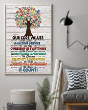 Massage Therapist Our Core Values Poster 11x17 Poster lifestyle-poster-1