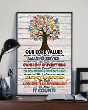 Massage Therapist Our Core Values Poster 11x17 Poster lifestyle-poster-2