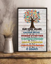 Massage Therapist Our Core Values Poster 11x17 Poster lifestyle-poster-3