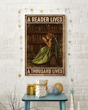 Librarian A Reader Lives A Thousand Lives 11x17 Poster lifestyle-holiday-poster-3