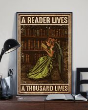 Librarian A Reader Lives A Thousand Lives 11x17 Poster lifestyle-poster-2