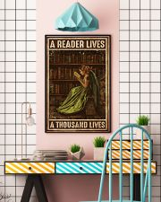 Librarian A Reader Lives A Thousand Lives 11x17 Poster lifestyle-poster-6