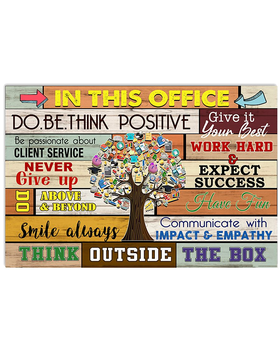 Accountant - Think outside the box 17x11 Poster