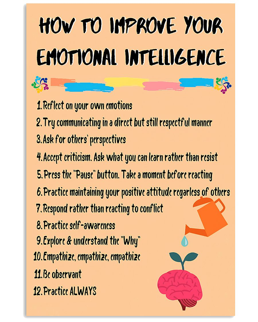 Social Worker Improve Your Emotional Intelligence 11x17 Poster