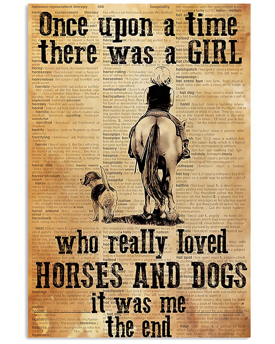 Horse Girl - There was a girl who loved horses 11x17 Poster