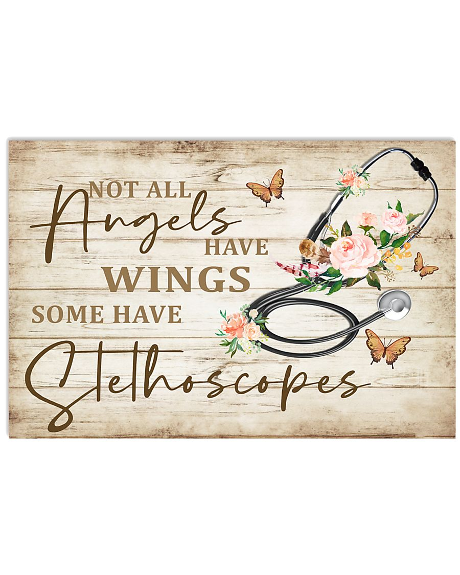 Physician Assistants Some Angels Have Stethoscopes 17x11 Poster