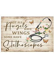 Physician Assistants Some Angels Have Stethoscopes 17x11 Poster front