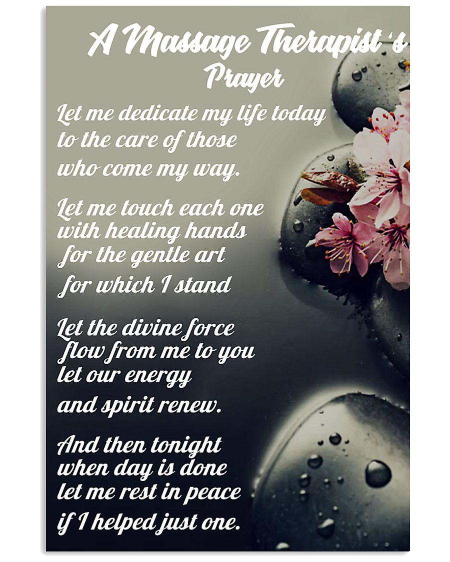 Massage Therapist 's Prayer 11x17 Poster