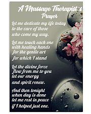 Massage Therapist 's Prayer 11x17 Poster front