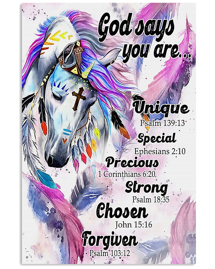 Horse Girl God Says You Are 11x17 Poster