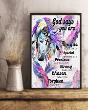 Horse Girl God Says You Are 11x17 Poster lifestyle-poster-3