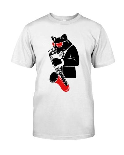 Cat Play Saxophone