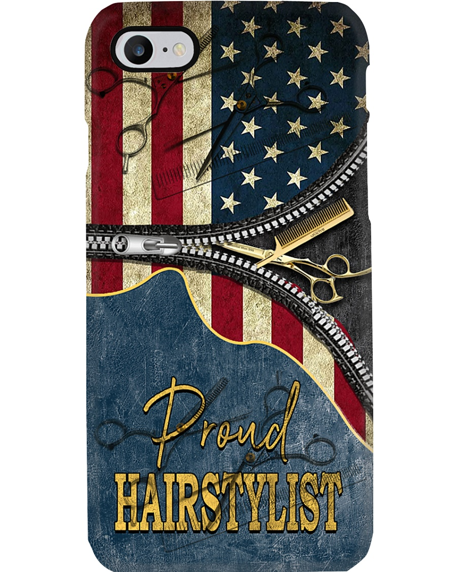 Proud American Hairstylist Phone Case