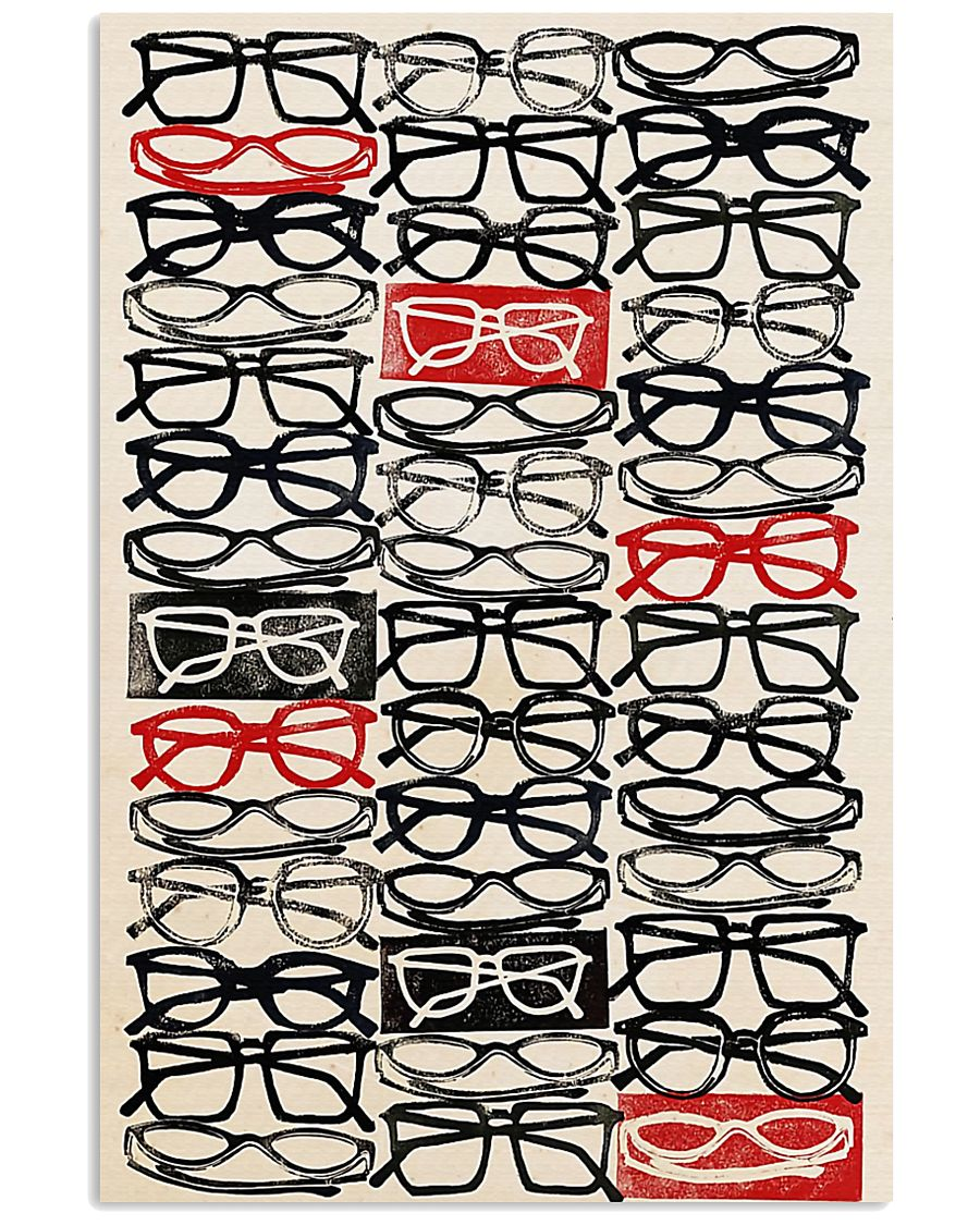 Optometrist Stacked Eye Glass 11x17 Poster