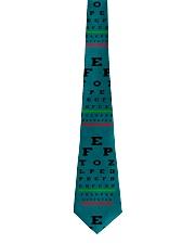 Optometrist Blue Eye Chart Tie front