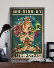 Yoga We rise by lifting others 11x17 Poster lifestyle-poster-2