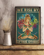 Yoga We rise by lifting others 11x17 Poster lifestyle-poster-3
