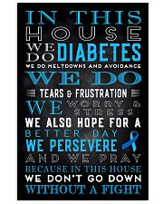 Diabetes we don't go down without a fight poster 11x17 Poster front