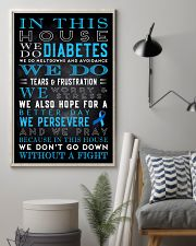 Diabetes we don't go down without a fight poster 11x17 Poster lifestyle-poster-1
