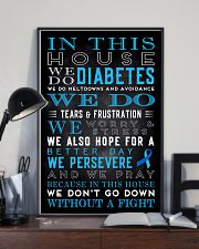 Diabetes we don't go down without a fight poster 11x17 Poster lifestyle-poster-2