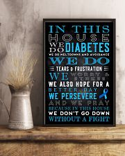 Diabetes we don't go down without a fight poster 11x17 Poster lifestyle-poster-3