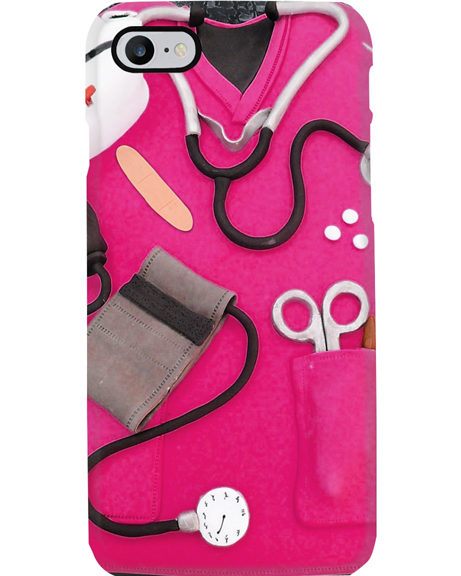 Medical Assistant Pink Scrub Phone Case
