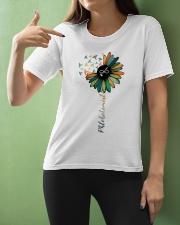 Phlebotomist Colorful Caduceus  Ladies T-Shirt apparel-ladies-t-shirt-lifestyle-front-10