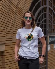 Phlebotomist Colorful Caduceus  Ladies T-Shirt lifestyle-women-crewneck-front-2