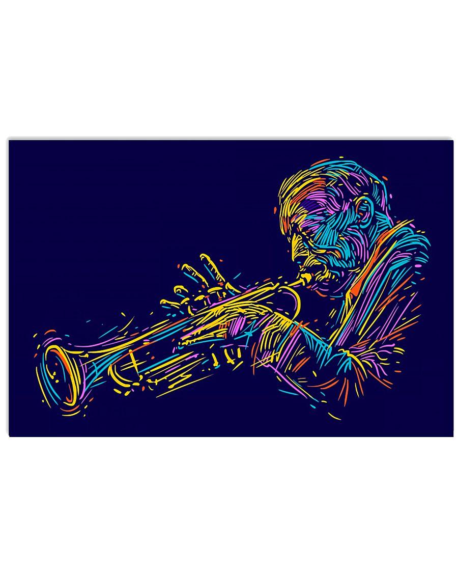 Trumpet Player Art 17x11 Poster