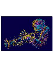 Trumpet Player Art 17x11 Poster front