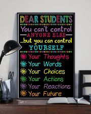 Teacher Dear Students You Can Control Yourself 11x17 Poster lifestyle-poster-2