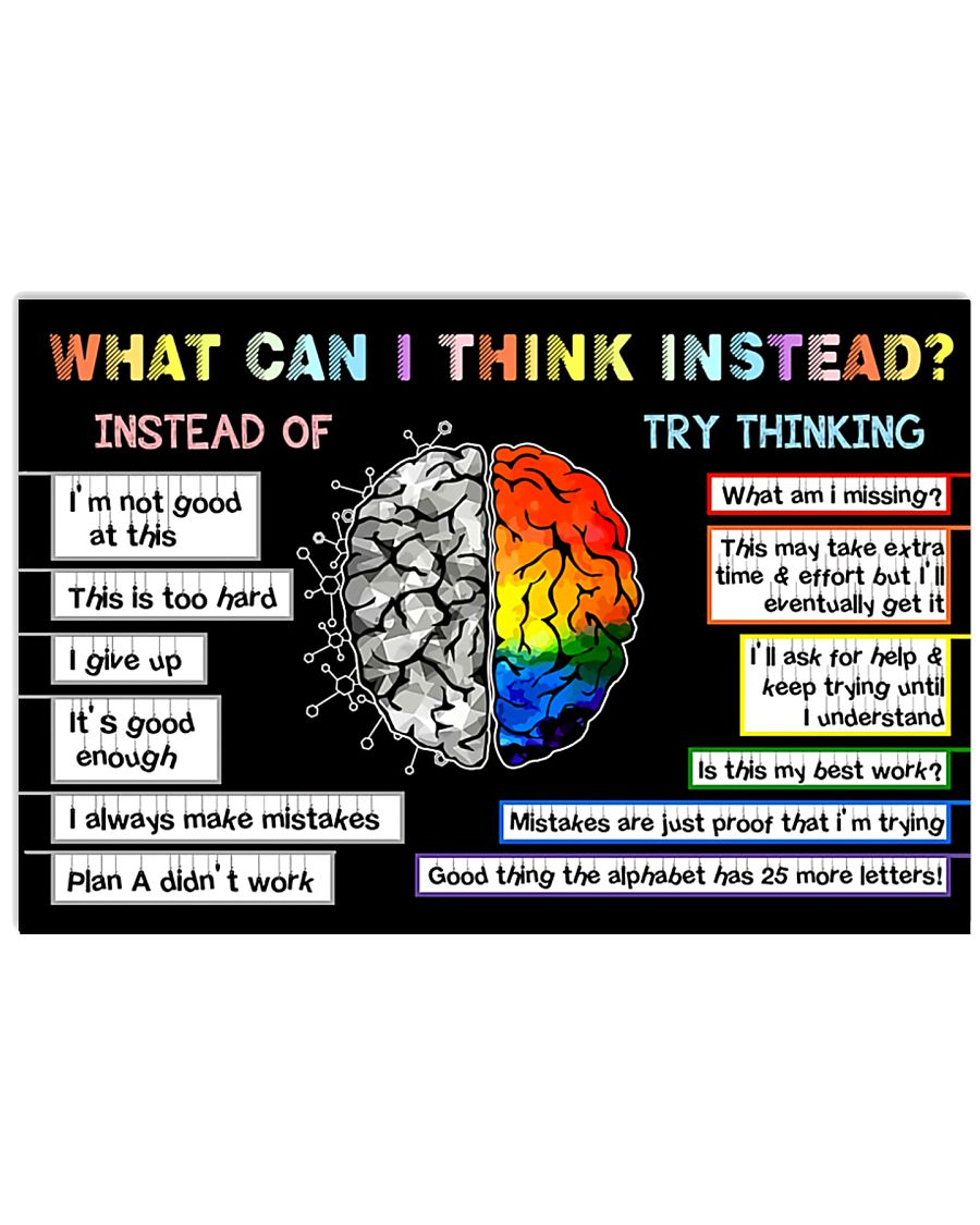 Teacher What Can I Think Instead 17x11 Poster