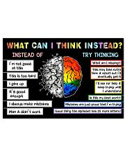 Teacher What Can I Think Instead 17x11 Poster front