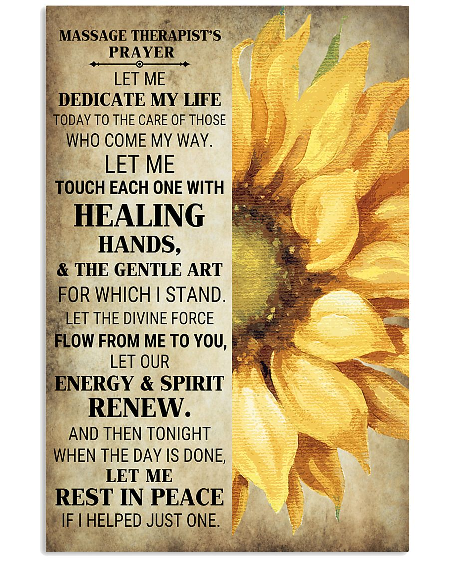 Massage Therapist's Prayer 24x36 Poster