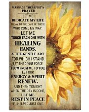 Massage Therapist's Prayer 24x36 Poster front