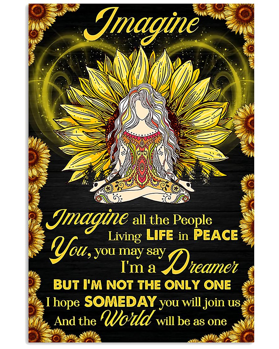 Yoga - Imagine All The People Living In Peace 11x17 Poster